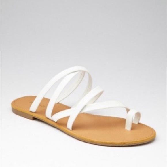 F21 White Strappy Sandals | Poshmark